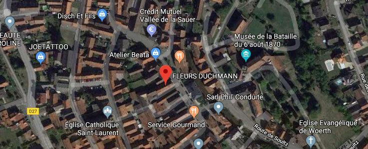 Carte Fleurs Duchmann